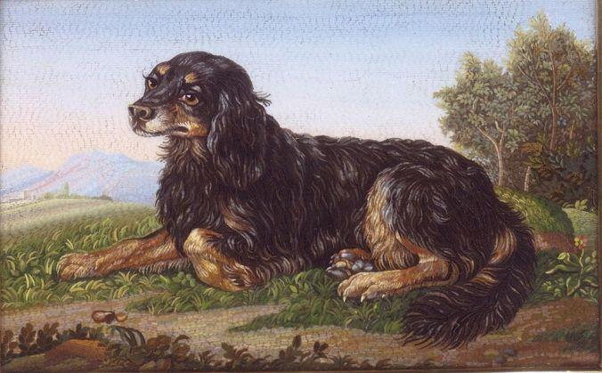 dog Spaniel_Micromosaic