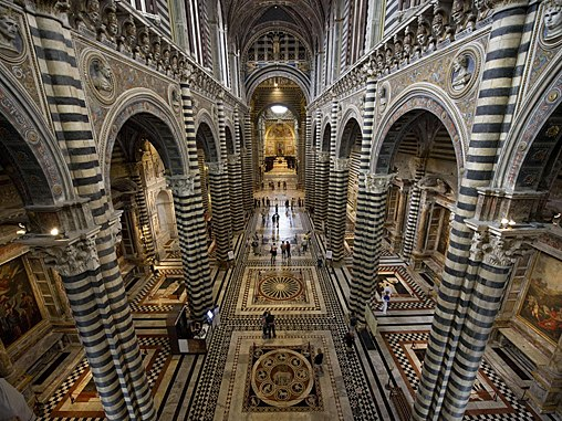 siena and duomo and interior